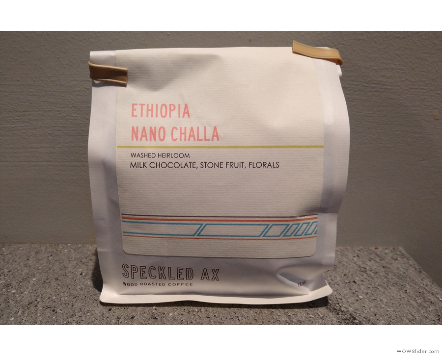 I say we, it was mostly Amanda. This Ethiopia Nano Challa went down very nicely...