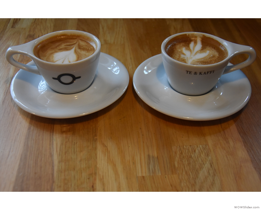 ... and we had a pair of flat whites...
