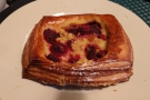 ... while Amanda had this raspberry and cream cheese pastry. Both were delicious!