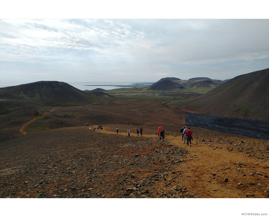This time, we took the direct route (on the left) rather than going via the lava flow.