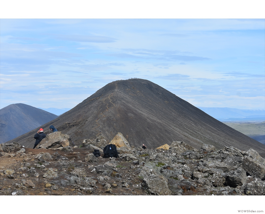 The ridge continues to a further, higher peak, but we didn't think we'd get there and...
