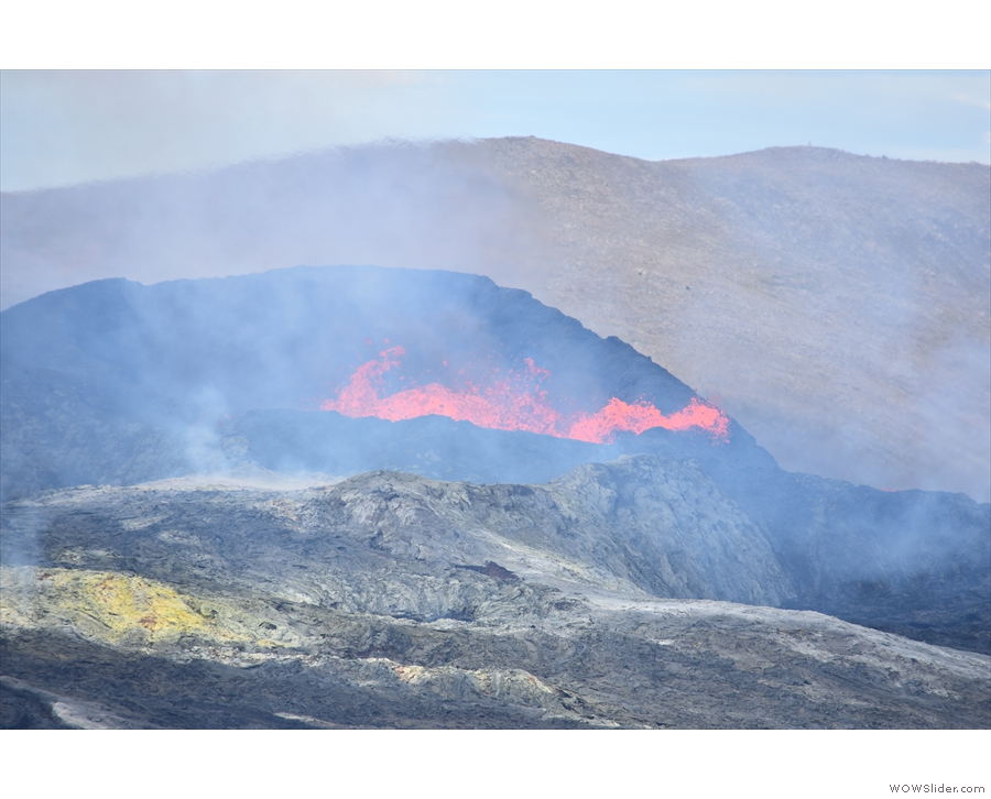 ... time went on, including several times when the lava spilled over the north edge of...