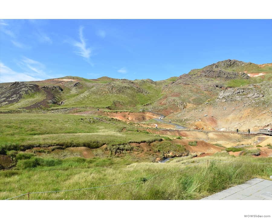 Our second stop was just a little further on, at the Krýsuvík geothermal area...