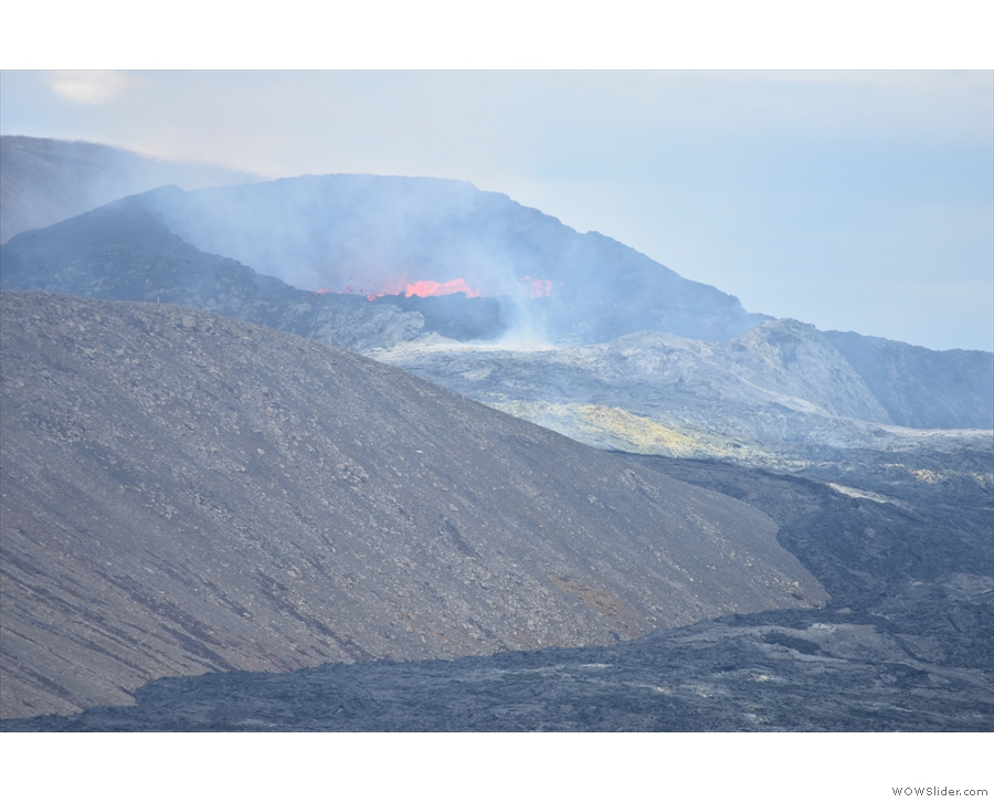 We had a great view across the valley, right into the crater, which was about 1 km away!