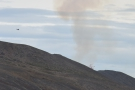 This was our first sighting, not of the crater, but of the lava it was throwing up!