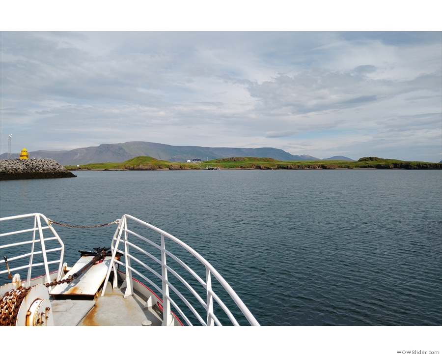 We sat right at the front of the ferry and had some great views as we made the crossing.