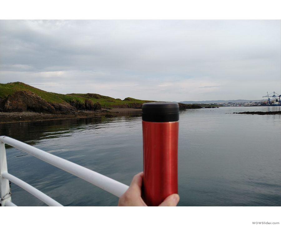 ... for coffee on the way round the island, so I had a few sips as we waited to leave.