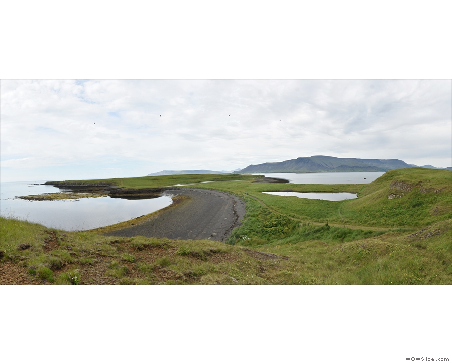 Carrying on, the northern part of the island (called the West Island) is connected...