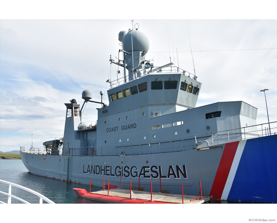 This is the Ægir, named for the Norse god of the sea, and one third of Iceland's coastguard.