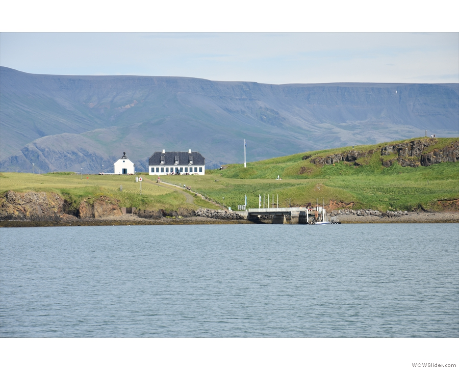 It's  Viðey island, about ½ km away across the water.