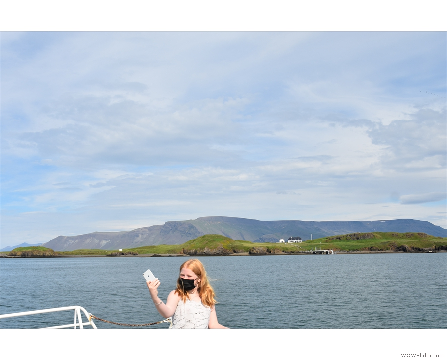 ... the middle of the island, with the Esjan mountain range in the background...