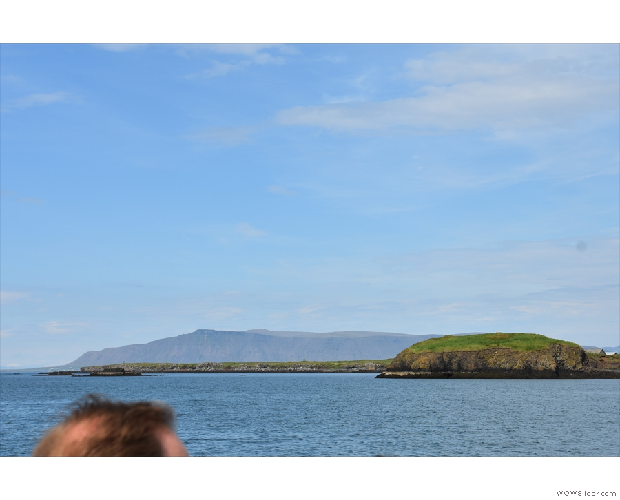 ... and the northern end of the island, which we did walk around.