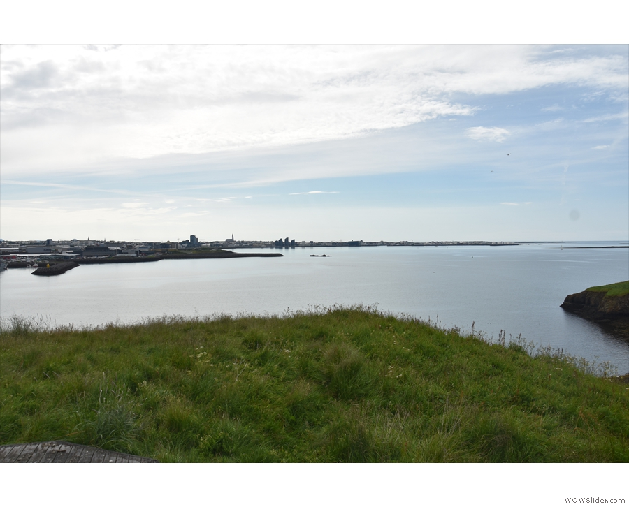 And, finally, a view back across the bay to Reykjavik.