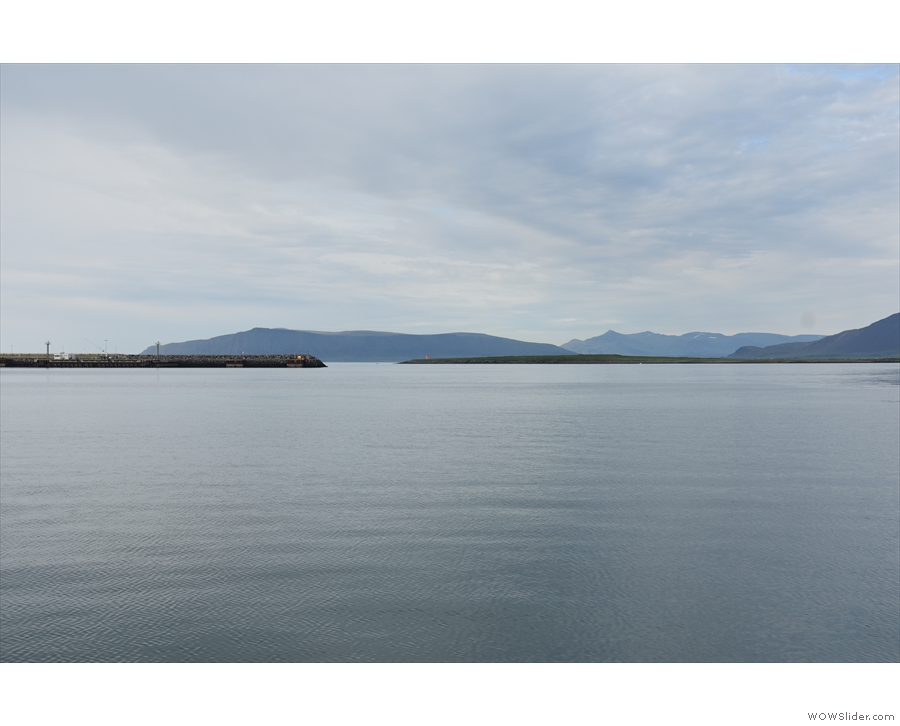 And, to the left of that, Engey Island with more distant mountains as a backdrop.