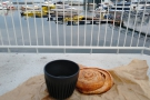 ... before we finally enjoyed our pastries on the harbour side with the last of the coffee!