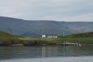 Then we were off, leaving Viðey House...