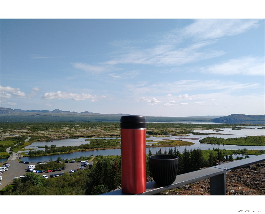 However, it seemed like a good place for coffee. This is the view south to  Þingvallavatn...