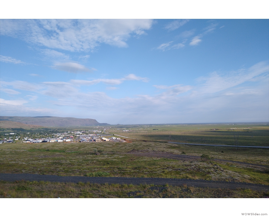 We followed Route 1 all the way back to Reykjavik, passing Hveragerði as we climbed...