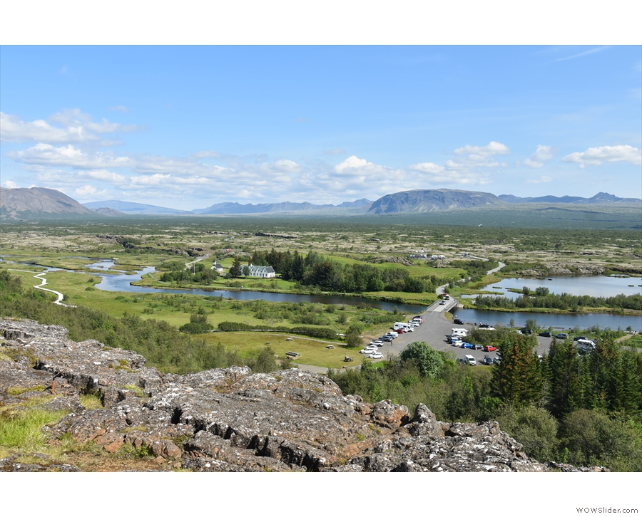 ... first stop, Þingvellir. Sadly we only had time to admire the views from up here...