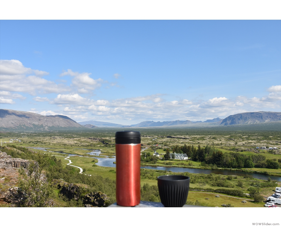 ... although we all (my Travel Press, HuskeeCup and I) preferred looking north.
