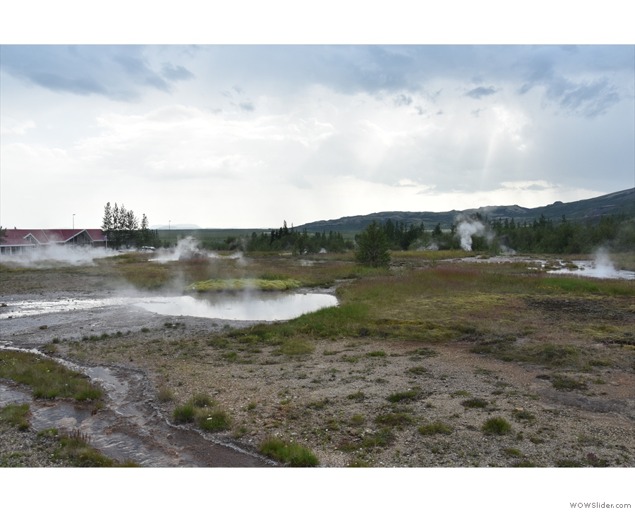 This is another geothermal area with hot springs and the original Geysir, after which...