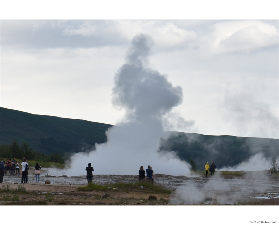 This is really the aftermath, a cloud of steam hanging in the air...