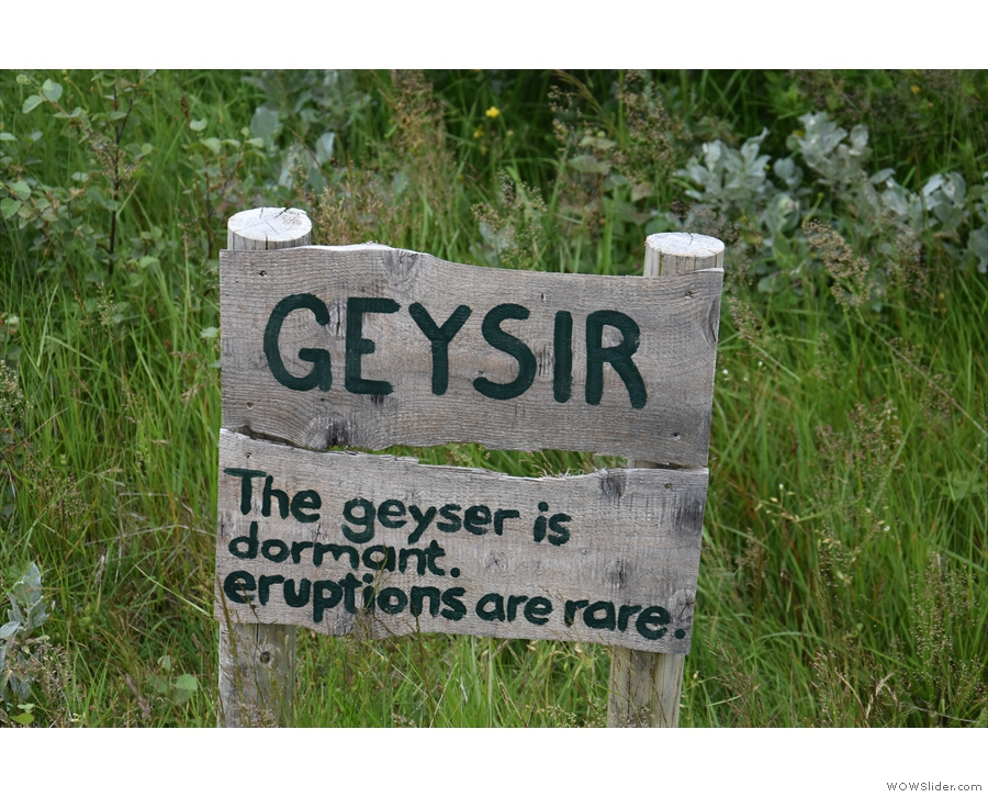 The original Geysir, by the way, is currently dormant and has been for many years.