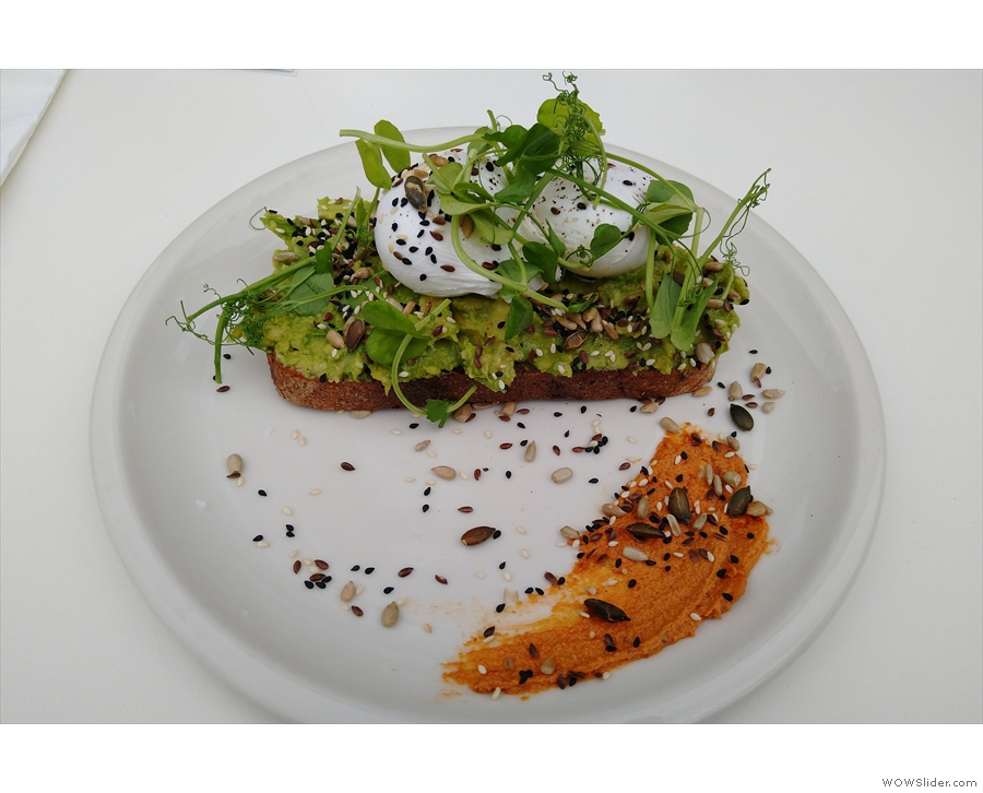I had smashed avocado on sourdough for lunch...