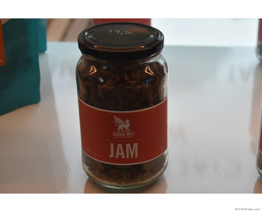 One of the guest filter options (it's coffee, rather than actual jam).