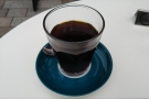 I'll leave you with my coffee, the Stonewall Riots from Dark Arts Coffee, served in a glass.
