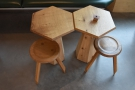 It's made up of these neat pairs of hexagonal tables...