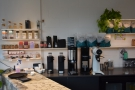 The opposite end of the counter is for filter coffee...