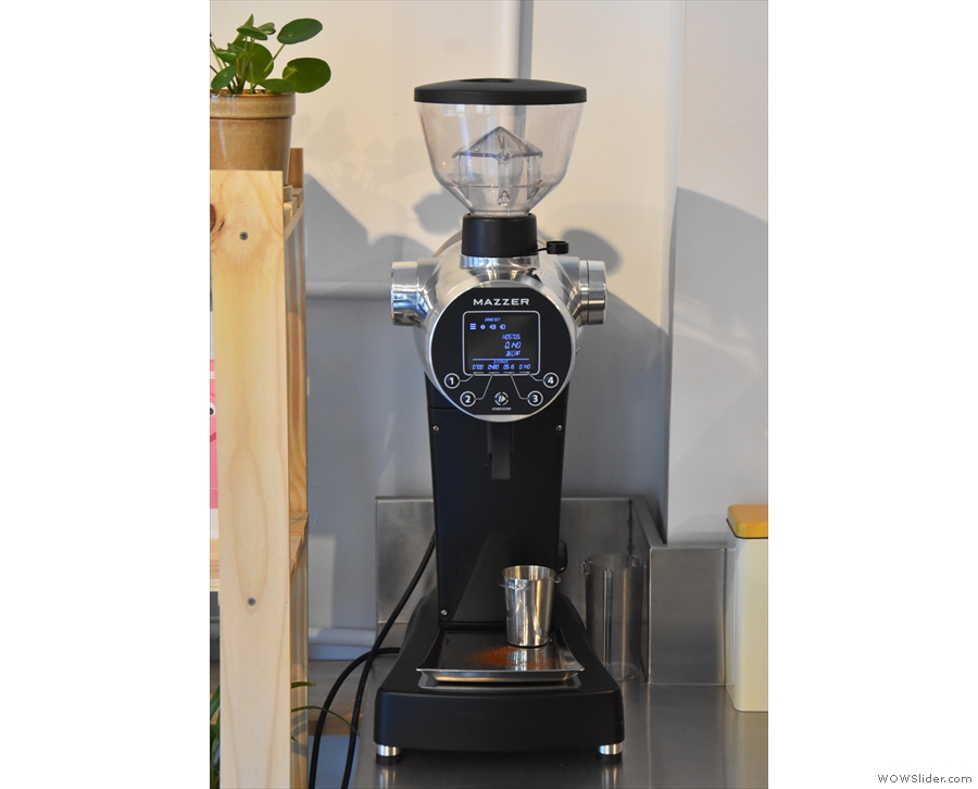 ... ready for grinding in the Mazzer ZM...