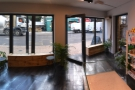The front of Nostos Coffee as seen from next to the counter.
