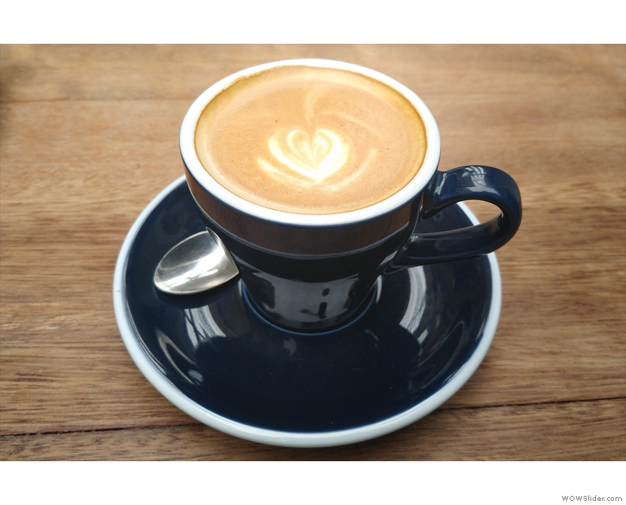 ... with a lovely flat white, made with the Deerstalker blend. However, I'll leave you...