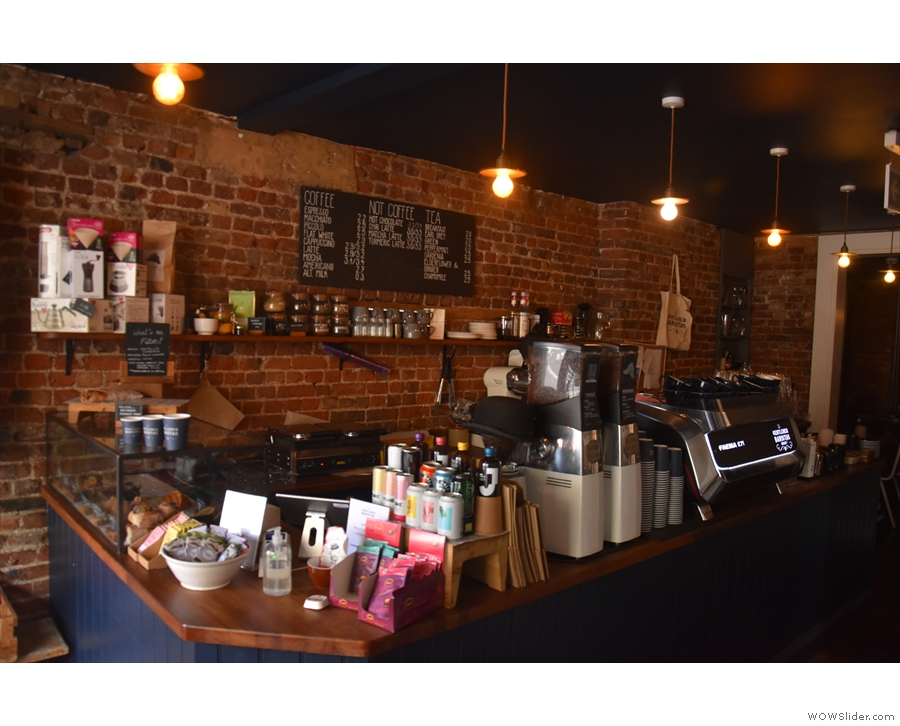 The rest of the counter has seen some changes too. The pour-over section at the back...