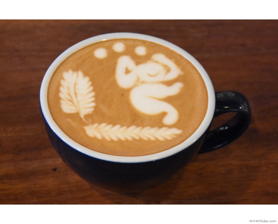 ... with this one, which wasn't mine. It was made by Ernie, a barista who I met at...