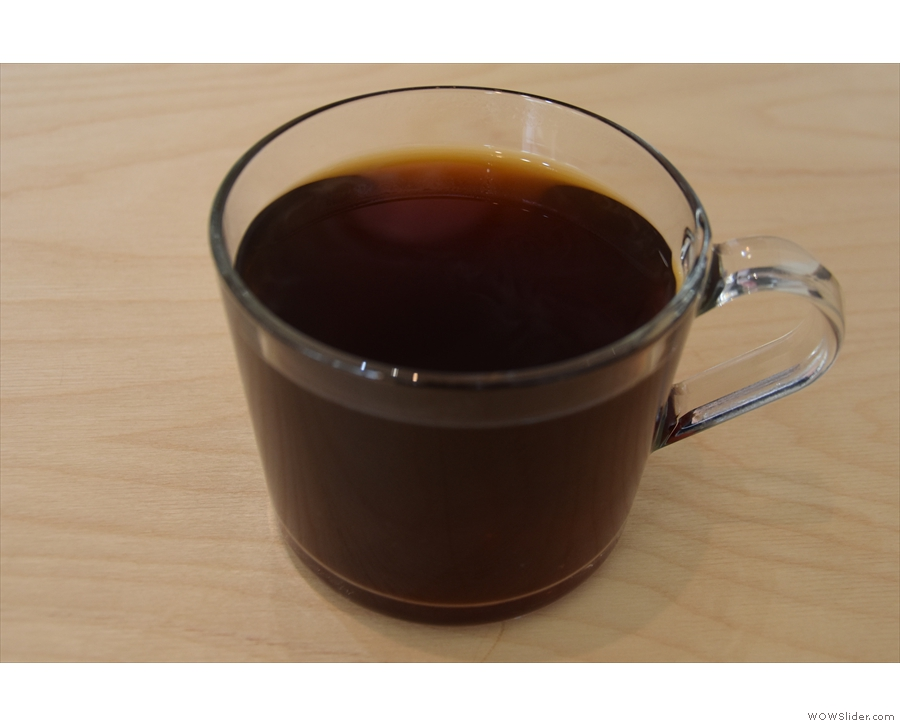 ... with my coffee, a V60 of a natural Nicaraguan, pour-over being another new addition.