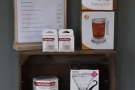 ... coffee kit (on the shelves off to the left of the counter)...