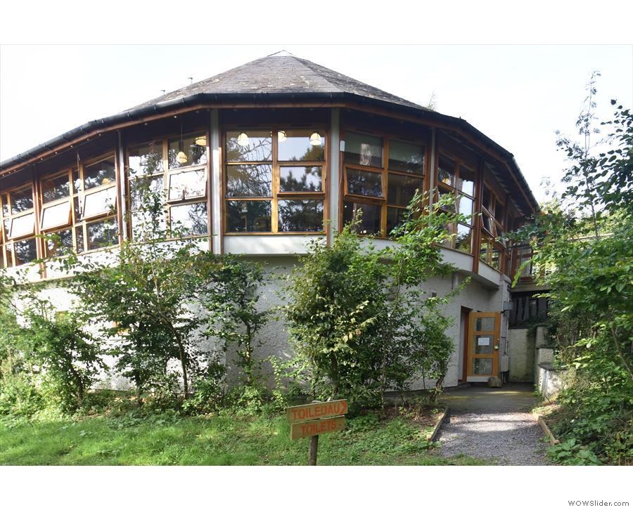 Caffi Caban, on the top floor at the back of Brynrefail Enterprise Workshops.