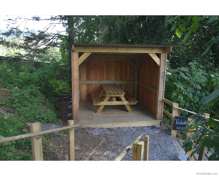 ... while this one, with its picnic-style table, is at the back of the lower teir.