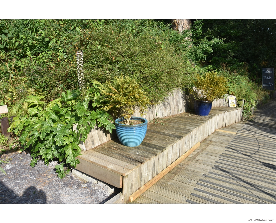 There's also a bench off to your left at the start of the decking...