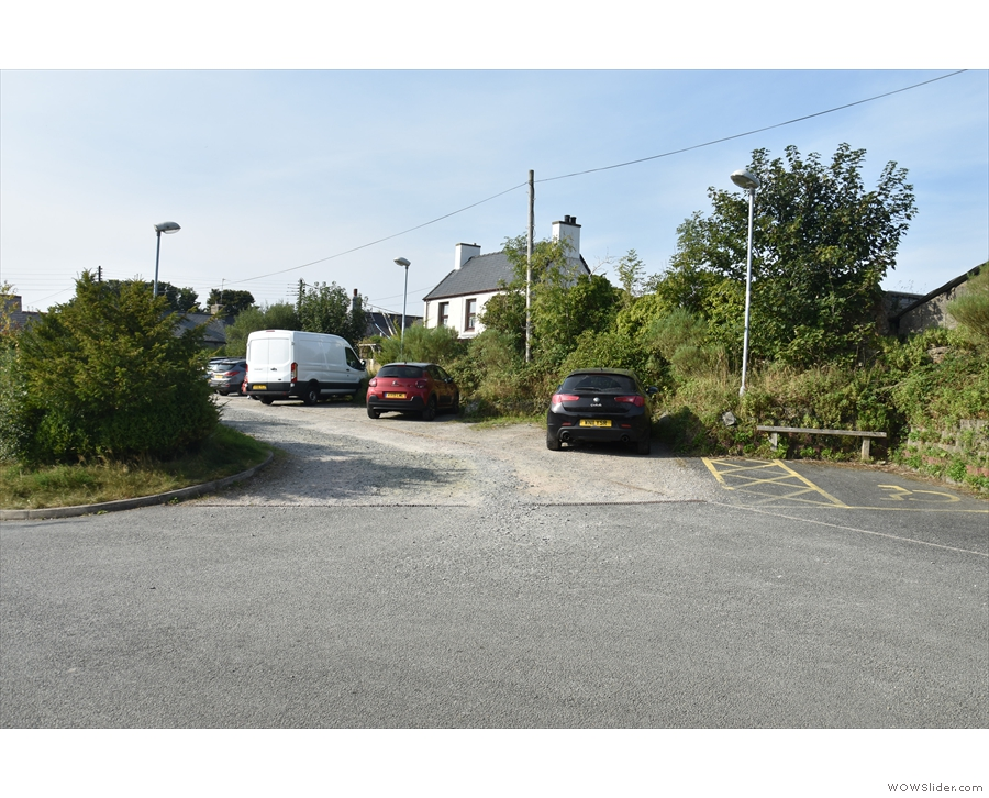 There are two other car parks, which are off to the left and up a bit. There's this one...