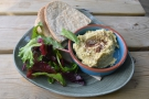 ... while I had a classic, pitta and hummus with a side salad.