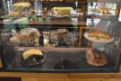 The counter also houses the cakes, all baked onsite.