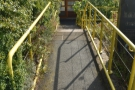 ... where a set of steps leads down...
