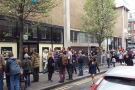 The queue outside the London Coffee Festival. Having a press pass has it's advantages!