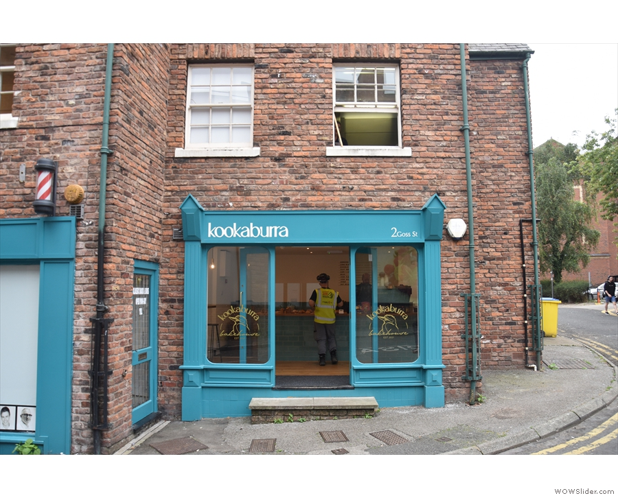 On Goss Street, in the heart of Chester, it's Kookaburra Bakehouse!