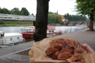 ... background, while this is an in-focus cinnamon twist with a blurry River Dee.