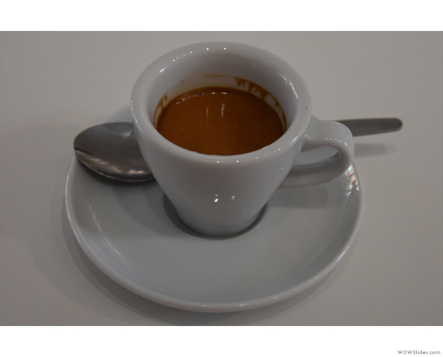 Served in a classic white cup, it was lovely...
